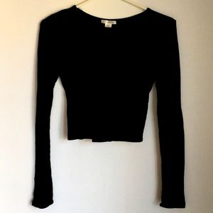 Bozzolo Black Crop Top